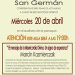 Aula San Germán. ¡A las 19:00!